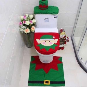 Other - New 3pcs Christmas Elf Toilet Cover Set